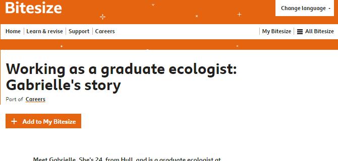 RammSanderson Ecologist interviewed for BBC Bitesize